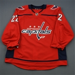 Bowey, Madison<br>Red Set 2<br>Washington Capitals 2018-19<br>#22 Size: 58