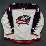 Atkinson, Cam<br>White Set 2<br>Columbus Blue Jackets 2018-19<br>#13 Size: 54