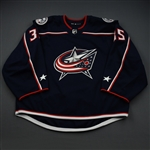 Berube, J-F<br>Blue Set 1 - Preseason Only<br>Columbus Blue Jackets 2018-19<br>#35 Size: 58G