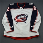 Bjorkstrand, Oliver<br>White Set 2<br>Columbus Blue Jackets 2018-19<br>#28 Size: 56