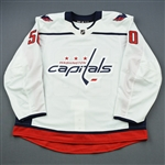 Bau, Mathias<br>White Set 1 - Game-Issued (GI)<br>Washington Capitals 2018-19<br>#50 Size: 58