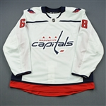 Besse, Grant<br>White Set 1 - Game-Issued (GI)<br>Washington Capitals 2018-19<br>#68 Size: 56