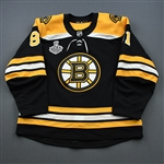 Blidh, Anton<br>Black Stanley Cup Final Set 1 - Game-Issued (GI)<br>Boston Bruins 2018-19<br>#81 Size: 56