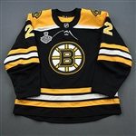 Cehlarik, Peter<br>Black Stanley Cup Final Set 1 - Game-Issued (GI)<br>Boston Bruins 2018-19<br>#22 Size: 56