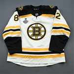 Frederic, Trent<br>White Stanley Cup Final Set 1 - Game-Issued (GI)<br>Boston Bruins 2018-19<br>#82 Size: 56