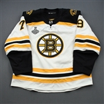 Lauzon, Jeremy<br>White Stanley Cup Final Set 1 - Game-Issued (GI)<br>Boston Bruins 2018-19<br>#79 Size: 56
