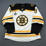 Senyshyn, Zach<br>White Stanley Cup Final Set 1 - Game-Issued (GI)<br>Boston Bruins 2018-19<br>#19 Size: 56