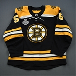 Vaakanainen, Urho<br>Black Stanley Cup Final Set 1 - Game-Issued (GI)<br>Boston Bruins 2018-19<br>#58 Size: 56