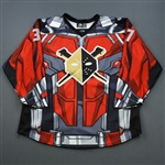 Hall, Robbie<br>MARVEL Ant-Man Game-Worn Jersey w/ Socks - worn Nov. 21, 2018 vs. Reading Royals<br>Columbus Blue Jackets 2018-19<br>#37 Size: 56