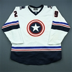 McNulty, Ian<br>White - Captain America - Autographed w/ Socks<br> 2018-19<br>#29 Size: 56