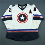 Tesink, Ryan<br>White - Captain America - Autographed w/ Socks<br> 2018-19<br>#28 Size: 54