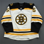 Acciari, Noel<br>White Set 3 / Playoffs<br>Boston Bruins 2018-19<br>#55 Size: 56