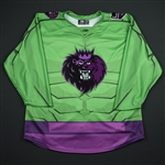 BLANK (No Name Or Number)<br>MARVEL Hulk (Game-Issued) - January 20, 2018 vs. Jacksonville Icemen<br>Manchester Monarchs 2017-18<br>Size: 54