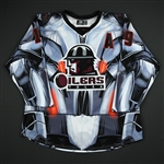 Sides, Joey<br>Black Ultron Jersey - Autographed w/A - First Period Only<br>Tulsa Oilers 2017-18<br>#19 Size: 54
