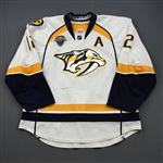 Fisher, Mike *<br>White Set 2 / Playoffs w/A, w/ All-Star Game Patch<br>Nashville Predators 2015-16<br>#12 Size: 56