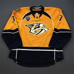 Aberg, Pontus *<br>Gold Set 2 / Playoffs w/ All-Star Game Patch - NHL Playoff Debut<br>Nashville Predators 2015-16<br>#37 Size: 56
