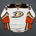 Holzer, Korbinian *<br>White Playoffs - Game-Issued (GI)<br>Anaheim Ducks 2015-16<br>#5 Size: 58