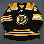 Backes, David<br>Black Set 3 / Playoffs<br>Boston Bruins 2018-19<br>#42 Size: 56
