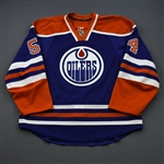 VandeVelde, Chris *<br>Blue Retro Set 1 <br>Edmonton Oilers 2012-13<br>#54 Size: 56