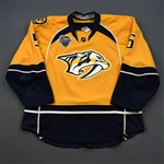 Jackman, Barret *<br>Gold Set 2 / Playoffs w/ All-Star Game Patch<br>Nashville Predators 2015-16<br>#5 Size: 56