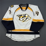 Kostitsyn, Sergei *<br>White Set 1<br>Nashville Predators 2011-12<br>#74 Size: 56