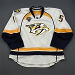 Smith, Craig *<br>White Set 2 / Playoffs w/ All-Star Game Patch<br>Nashville Predators 2015-16<br>#15 Size: 56