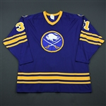 Andreychuk, Dave *<br>Blue - Preseason<br>Buffalo Sabres 1982-83<br>#31 Size: Extra-Large