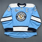 Crosby, Sidney *<br>Blue Throwback w/C - Winter Classic 1/1/08 (Period 2)<br>Pittsburgh Penguins 2007-08<br>#87 Size: 56