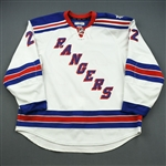 Boyle, Brian *<br>White- Stanley Cup Final - Photo-Matched to Game 1 and 2<br>New York Rangers 2013-14<br>#22 Size: 58+