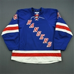 Nash, Rick *<br>Blue Set 2, Worn November 26 - January 13<br>New York Rangers 2014-15<br>#61 Size: 56