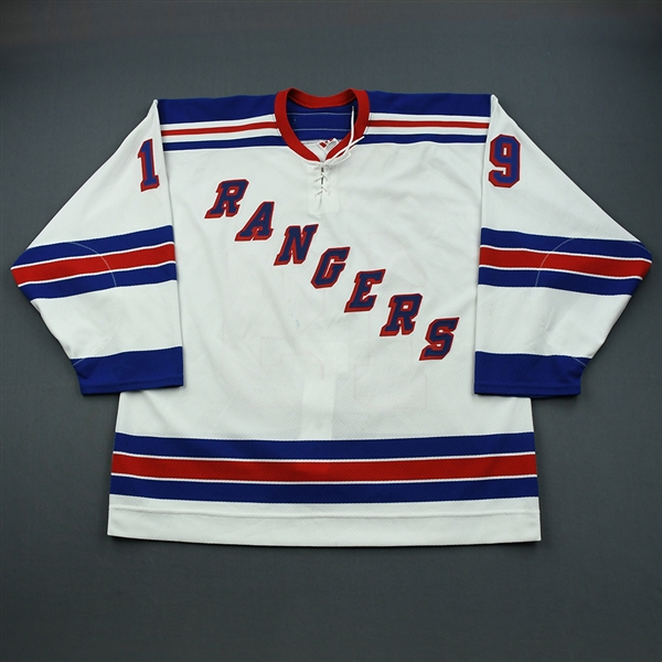 Lyashenko, Roman *<br>White 1st Regular Season<br>New York Rangers 2002-03<br>#19 Size: 56