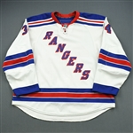 Voros, Aaron *<br>White Set 3<br>New York Rangers 2009-10<br>#34 Size: 58