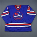 Hull, Bobby *<br>Blue<br>Winnipeg Jets 1976-77<br>#9 Size: L