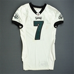 Vick, Michael *<br>White - worn 10/3/10 vs. Redskins - Photo-Matched<br>Philadelphia Eagles 2010<br>#7 Size: 44 L