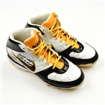 Ward, Hines *<br>Nike  white w/black and gold trim - Autographed and Inscribed - worn 10/24/10 vs. Miami - Photo-Matched<br>Pittsburgh Steelers 2010<br>#86 Size: 10.5