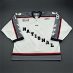 Edwardson, Derek *<br>White Period 1<br>ECHL All Star 2004-05<br>#18 Size: 56