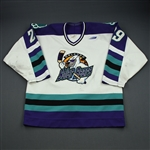 Sim, Trevor *<br>White w/ PHPA 30th Anniversary Patch<br>Orlando Solar Bears 1997-98<br>#29 Size: 54