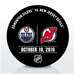 New Jersey Devils Warmup Puck<br>October 10, 2019 vs. Edmonton Oilers - Jack Hughes and Connor McDavid Face-to-Face in the NHL for The First Time<br>New Jersey Devils 2019-20<br>