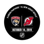 New Jersey Devils Warmup Puck<br>October 14, 2019 vs. Florida Panthers<br>New Jersey Devils 2019-20<br>