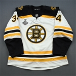 Carey, Paul *<br>White Stanley Cup Final Set 2 - Game-Issued (GI)<br>Boston Bruins 2018-19<br>#34 Size: 56