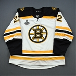 Cehlarik, Peter *<br>White Stanley Cup Final Set 2 - Game-Issued (GI)<br>Boston Bruins 2018-19<br>#22 Size: 56