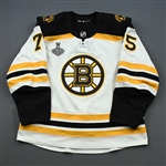 Clifton, Connor *<br>White Stanley Cup Final Set 2<br>Boston Bruins 2018-19<br>#75 Size: 56