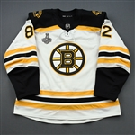 Frederic, Trent *<br>White Stanley Cup Final Set 2 - Game-Issued (GI)<br>Boston Bruins 2018-19<br>#82 Size: 56