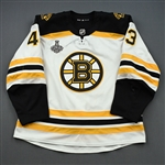 Heinen, Danton *<br>White Stanley Cup Final Set 2<br>Boston Bruins 2018-19<br>#43 Size: 56