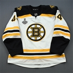 Kampfer, Steven *<br>White Stanley Cup Final Set 2 - Warm-Up Only<br>Boston Bruins 2018-19<br>#44 Size: 56