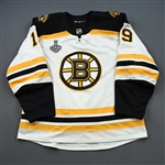 Senyshyn, Zach *<br>White Stanley Cup Final Set 2 - Game-Issued (GI)<br>Boston Bruins 2018-19<br>#19 Size: 56