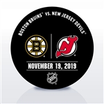 New Jersey Devils Warmup Puck<br>November 19, 2019 vs. Boston Bruins<br>New Jersey Devils 2019-20<br>