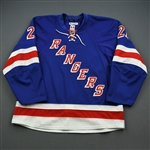 Stepan, Derek *<br>Blue - Playoffs - Opening Round - Photo-Matched<br>New York Rangers 2011-12<br>#21 Size: 56