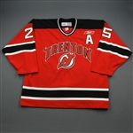 Akeson, Jeremy *<br>Red Set 1 w/A  - Autographed<br>Trenton Devils 2009-10<br>#25 Size: 56