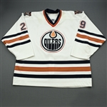 Cote, Patrick *<br>White - Photo-Matched <br>Edmonton Oilers 2000-01<br>#29 Size: 58